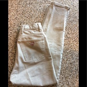 Guess cream high waisted jeans. Size 27